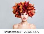 beautiful woman fashion model... | Shutterstock . vector #701337277