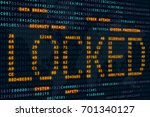 cyber  attack locked word on... | Shutterstock . vector #701340127