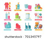 set of design illustration with ... | Shutterstock .eps vector #701345797