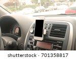 smartphone holding on magnet... | Shutterstock . vector #701358817