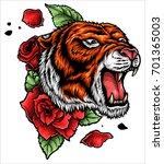 vector illustration of roaring...   Shutterstock .eps vector #701365003