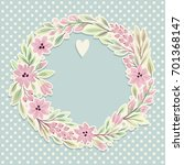 template greeting card or... | Shutterstock .eps vector #701368147