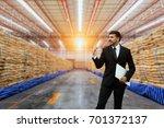businessman is working in...   Shutterstock . vector #701372137