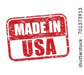 made in usa  grunge rubber stamp | Shutterstock .eps vector #701373913
