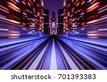motion blur train moving in... | Shutterstock . vector #701393383
