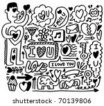 hand draw love element   Shutterstock .eps vector #70139806