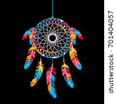 dream catcher  isolated on a... | Shutterstock .eps vector #701404057