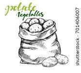 agriculture  potatoes vegetable ...   Shutterstock .eps vector #701406007