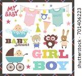 baby shower set | Shutterstock .eps vector #701406223