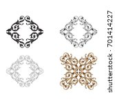 baroque vector set of vintage...   Shutterstock .eps vector #701414227