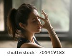young attractive woman... | Shutterstock . vector #701419183