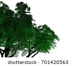 3d rendering of an outlined... | Shutterstock . vector #701420563