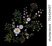 embroidery trend floral pattern ...   Shutterstock .eps vector #701424457