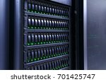 servers stack with hard drives... | Shutterstock . vector #701425747
