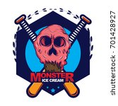 color ice cream vector... | Shutterstock .eps vector #701428927