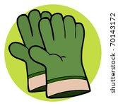 gardening tool pair of green... | Shutterstock . vector #70143172