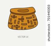 line flat color vector fisher...   Shutterstock .eps vector #701440303
