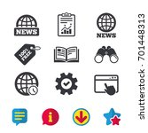news icons. world globe symbols....