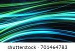 blue green abstract glow waving ... | Shutterstock . vector #701464783
