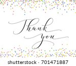 thank you words  hand written... | Shutterstock .eps vector #701471887