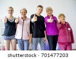seniors at gym | Shutterstock . vector #701477203