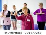 seniors at gym | Shutterstock . vector #701477263