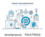 project implementation. create... | Shutterstock .eps vector #701479033