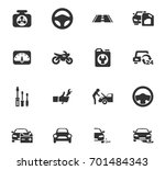 auto icons set and symbols for... | Shutterstock .eps vector #701484343