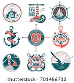 vector set of badges with a... | Shutterstock .eps vector #701486713