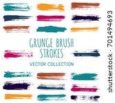 paint dabs  brushstroke... | Shutterstock .eps vector #701494693