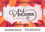 autumn sale background layout... | Shutterstock .eps vector #701501053