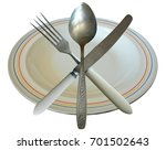 dinner tableware set isolated.... | Shutterstock . vector #701502643