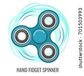 moving hand fidget spinner...   Shutterstock .eps vector #701503993