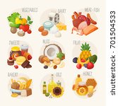 set of labels with categories... | Shutterstock .eps vector #701504533