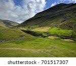 nordic natural landscape  faroe ... | Shutterstock . vector #701517307