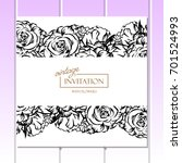 invitation with floral... | Shutterstock .eps vector #701524993