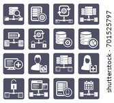 database server icon set vector | Shutterstock .eps vector #701525797