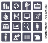 business icon set vector    | Shutterstock .eps vector #701525803