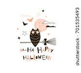 happy halloween illustration | Shutterstock .eps vector #701535493