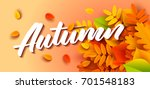 Autumn Banner Background With...