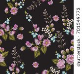 embroidery seamless pattern... | Shutterstock .eps vector #701549773