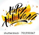 happy halloween lettering on...