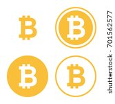 bitcoin icon set. digital... | Shutterstock .eps vector #701562577