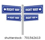 right way guidepost showing in... | Shutterstock .eps vector #701562613