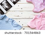 pink and blue baby romper and...   Shutterstock . vector #701564863