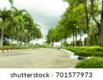 blurry photo . road and parking ... | Shutterstock . vector #701577973