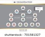 organization chart infographics ...   Shutterstock .eps vector #701581327