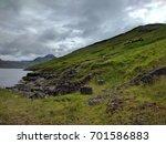 nordic natural landscape  faroe ... | Shutterstock . vector #701586883