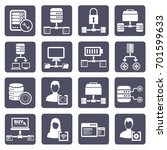 database server icon set vector | Shutterstock .eps vector #701599633