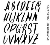 hand drawn dry brush font.... | Shutterstock .eps vector #701601793
